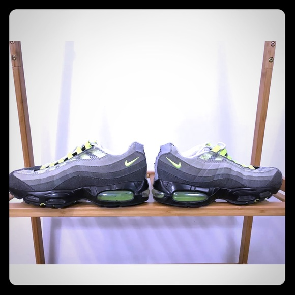san francisco 28c1a d8658 Nike | Men's Air Max '95 OG Neon Green & Gray